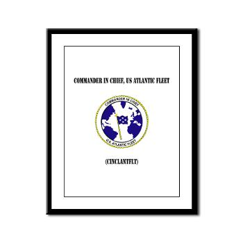 CICUSAF - M01 - 02 - Commander In Chief, US Atlantic Fleet with Text - Framed Panel Print