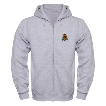 CL - A01 - 03 - Marine Corps Base Camp Lejeune - Zip Hoodie