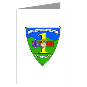CLB1 - A01 - 01 - Combat Logistics Battalion - Greeting Cards (Pk of 10)