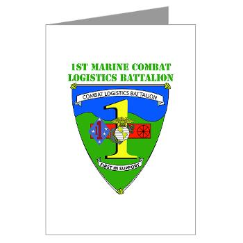 CLB1 - A01 - 01 - Combat Logistics Battalion 1 with Text - Greeting Cards (Pk of 10)