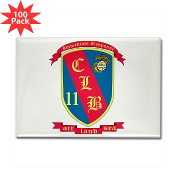 CLB11 - M01 - 01 - Combat Logistics Battalion 11 - Rectangle Magnet (100 pack)