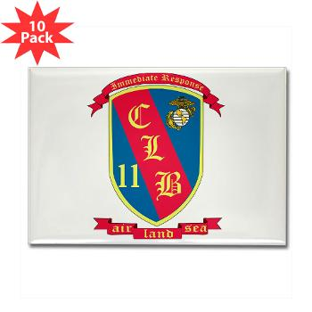 CLB11 - M01 - 01 - Combat Logistics Battalion 11 - Rectangle Magnet (10 pack)