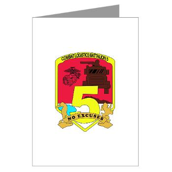 CLB5 - A01 - 01 - Combat Logistics Battalion 5 - Greeting Cards (Pk of 10)