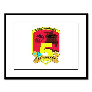 CLB5 - A01 - 01 - Combat Logistics Battalion 5 - Large Framed Print
