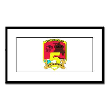 CLB5 - A01 - 01 - Combat Logistics Battalion 5 - Small Framed Print