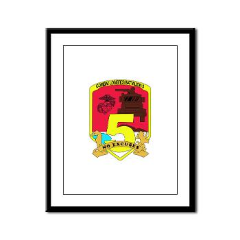 CLB5 - A01 - 01 - Combat Logistics Battalion 5 - Framed Panel Print