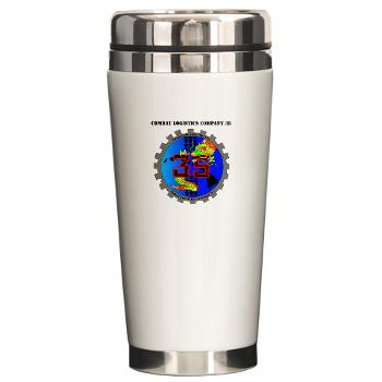 CLC35 - M01 - 03 - Combat Logistics Company 35 with Text - Ceramic Travel Mug
