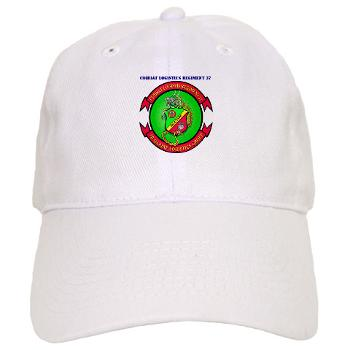 CLR37 - A01 - 01 - Combat Logistics Regiment 37 with Text - Cap