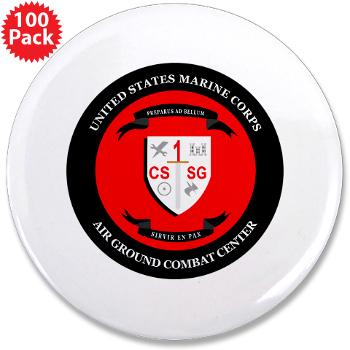 "CSSG1 - M01 - 01 - Combat Service Support Group - 1 - 3.5"" Button (100 pack)"