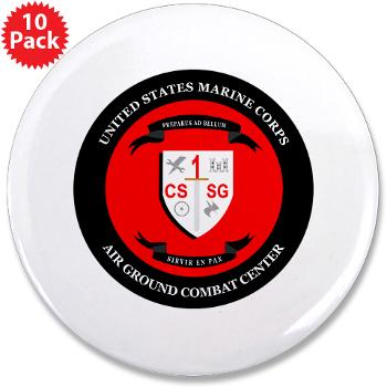 "CSSG1 - M01 - 01 - Combat Service Support Group - 1 - 3.5"" Button (10 pack)"