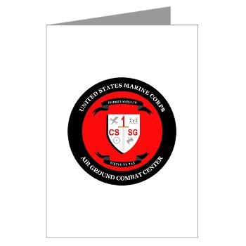 CSSG1 - M01 - 02 - Combat Service Support Group - 1 - Greeting Cards (Pk of 10)