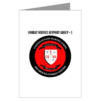CSSG1 - M01 - 02 - Combat Service Support Group - 1 with Text - Greeting Cardrds (Pk of 20)