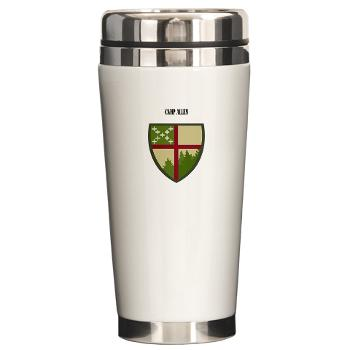 CampAllen - M01 - 03 - Camp Allen with Text - Ceramic Travel Mug