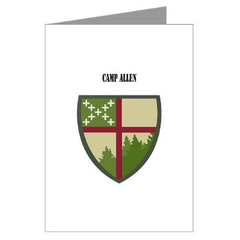CampAllen - M01 - 02 - Camp Allen with Text - Greeting Cards (Pk of 10)