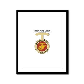 CP - M01 - 02 - Camp Pendleton with Text - Framed Panel Print