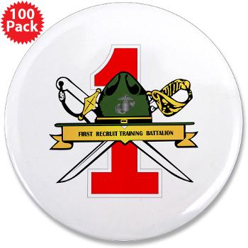 "FRTB - M01 - 01 - First Recruit Training Battalion - 3.5"" Button (100 pack)"