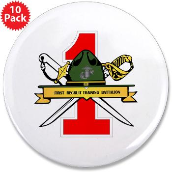 "FRTB - M01 - 01 - First Recruit Training Battalion - 3.5"" Button (10 pack)"
