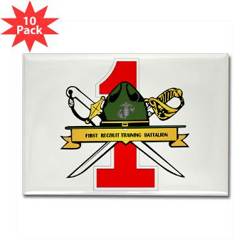 FRTB - M01 - 01 - First Recruit Training Battalion - Rectangle Magnet (10 pack)