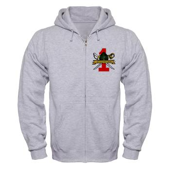 FRTB - A01 - 03 - First Recruit Training Battalion - Zip Hoodie