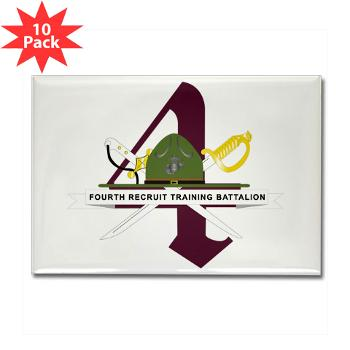 FRTB - M01 - 01 - Fourth Recruit Training Battalion - Rectangle Magnet (10 pack)
