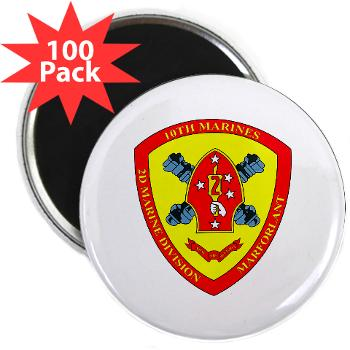 "HB10M - M01 - 01 - Headquarters Battery 10th Marines - 2.25"" Magnet (100 pack)"