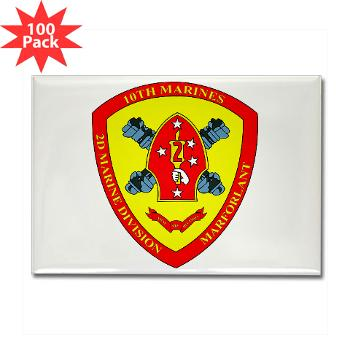 HB10M - M01 - 01 - Headquarters Battery 10th Marines - Rectangle Magnet (100 pack)