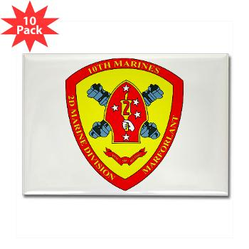 HB10M - M01 - 01 - Headquarters Battery 10th Marines - Rectangle Magnet (10 pack)