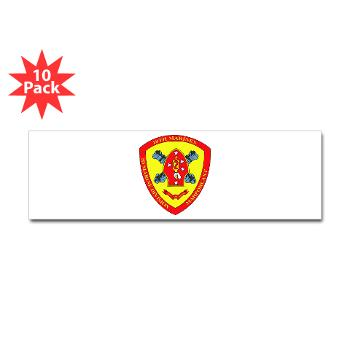 HB10M - M01 - 01 - Headquarters Battery 10th Marines - Sticker (Bumper 10 pk)