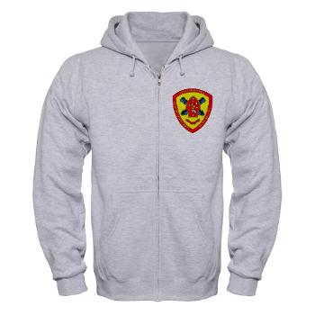 HB10M - A01 - 03 - Headquarters Battery 10th Marines - Zip Hoodie