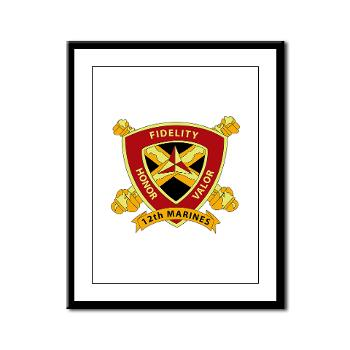 HB12M - M01 - 02 - Headquarters Battery 12th Marines Framed Panel Print
