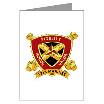 HB12M - M01 - 02 - Headquarters Battery 12th Marines Greeting Cards (Pk of 20)