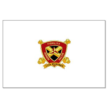 HB12M - M01 - 02 - Headquarters Battery 12th Marines Large Poster
