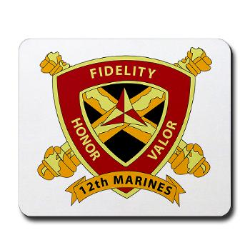 HB12M - M01 - 03 - Headquarters Battery 12th Marines Mousepad