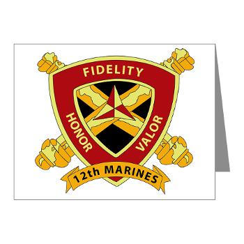 HB12M - M01 - 02 - Headquarters Battery 12th Marines Note Cards (Pk of 20)