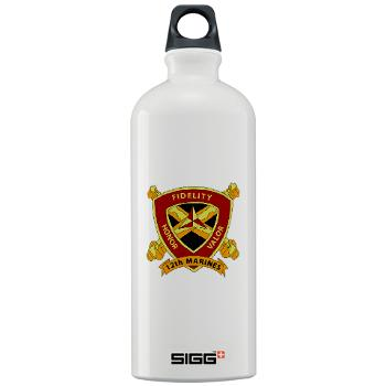 HB12M - M01 - 03 - Headquarters Battery 12th Marines Sigg Water Bottle 1.0L