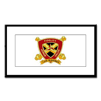 HB12M - M01 - 02 - Headquarters Battery 12th Marines Small Framed Print