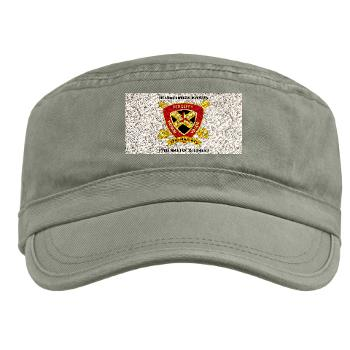 HB12M - A01 - 01 - Headquarters Battery 12th Marines with text Military Cap