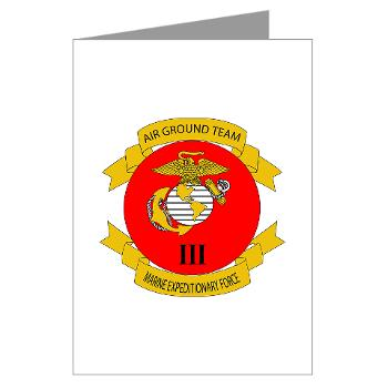 HB3M - M01 - 02 - Headquarters Bn - 3rd MARDIV - Greeting Cards (Pk of 10)