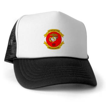 HB3M - A01 - 02 - Headquarters Bn - 3rd MARDIV with Text - Trucker Hat