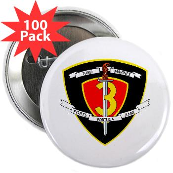 "HC3M - M01 - 01 - Headquarters Company 3rd Marines 2.25"" Button (100 pack)"