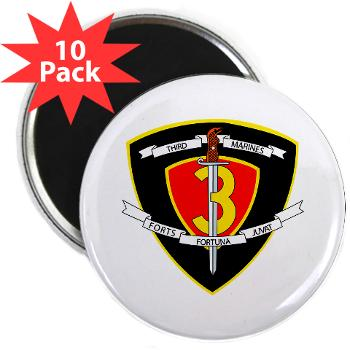 "HC3M - M01 - 01 - Headquarters Company 3rd Marines 2.25"" Magnet (10 pack)"