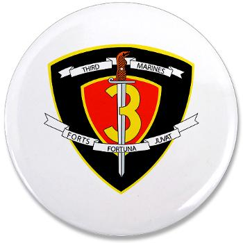 "HC3M - M01 - 01 - Headquarters Company 3rd Marines 3.5"" Button (10 pack)"