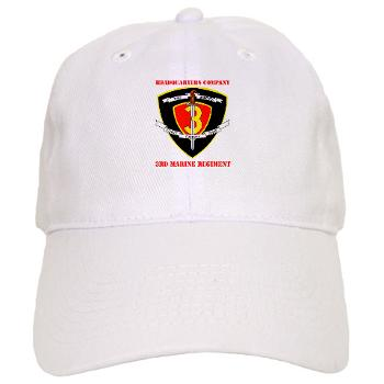 HC3M - A01 - 01 - Headquarters Company 3rd Marines with Text Cap