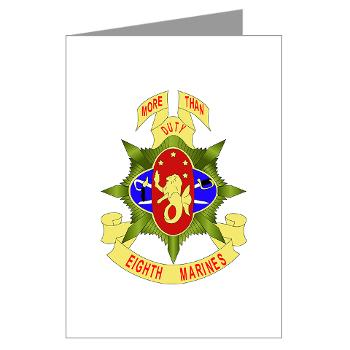 HC8M - M01 - 02 - Headquarters Company 8th Marines - Greeting Cards (Pk of 10)