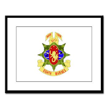 HC8M - M01 - 02 - Headquarters Company 8th Marines - Large Framed Print