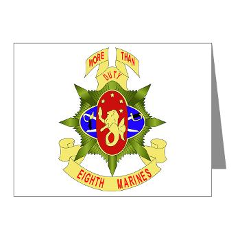 HC8M - M01 - 02 - Headquarters Company 8th Marines - Note Cards (Pk of 20)