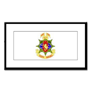 HC8M - M01 - 02 - Headquarters Company 8th Marines - Small Framed Print