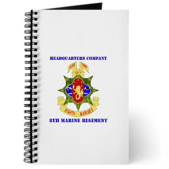 C8M - M01 - 02 - Headquarters Company 8th Marines with Text - Journal