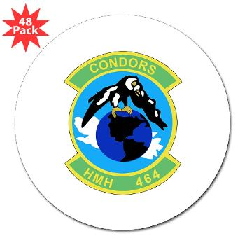 "HHS464 - M01 - 01 - SSI - Heavy Helicopter Squadron 464 3"" Lapel Sticker (48 pk)"
