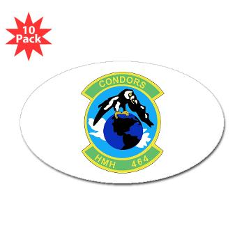 HHS464 - M01 - 01 - SSI - Heavy Helicopter Squadron 464 Sticker (Oval 10 pk)